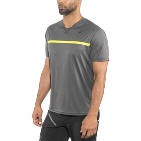 SQUARE Sport Jersey shortarm Herre grey'n'flashyellow